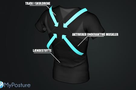 virker holdnignskorrigerende t shirt